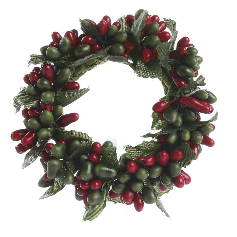 Pip Berry Candle Rings Red and Green Pip Berry Candle Ring Pip Berries
