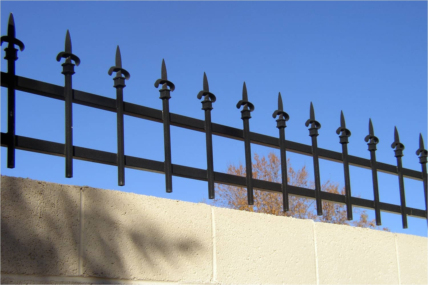 decorative wrought iron fencing examples