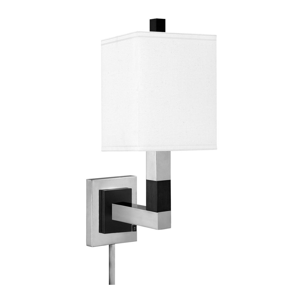 complements 8471dswh s lamp style plug in wall sconce g1496295