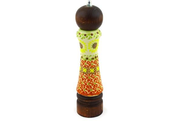 polish pottery boleslawiec stoneware pepper grinder 131ciemny wiza pattern 26 h9367e