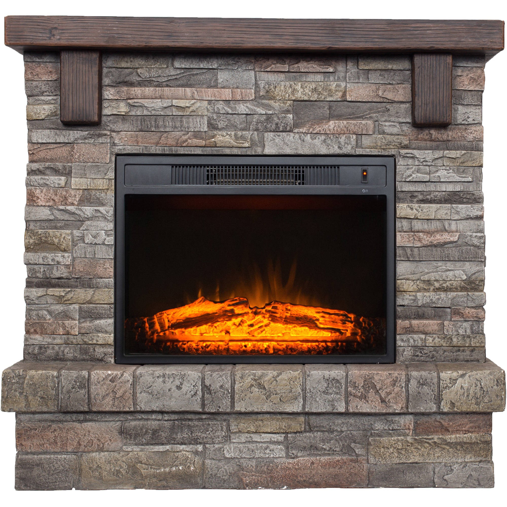 polyfiber electric fireplace with 41 mantle 54457858