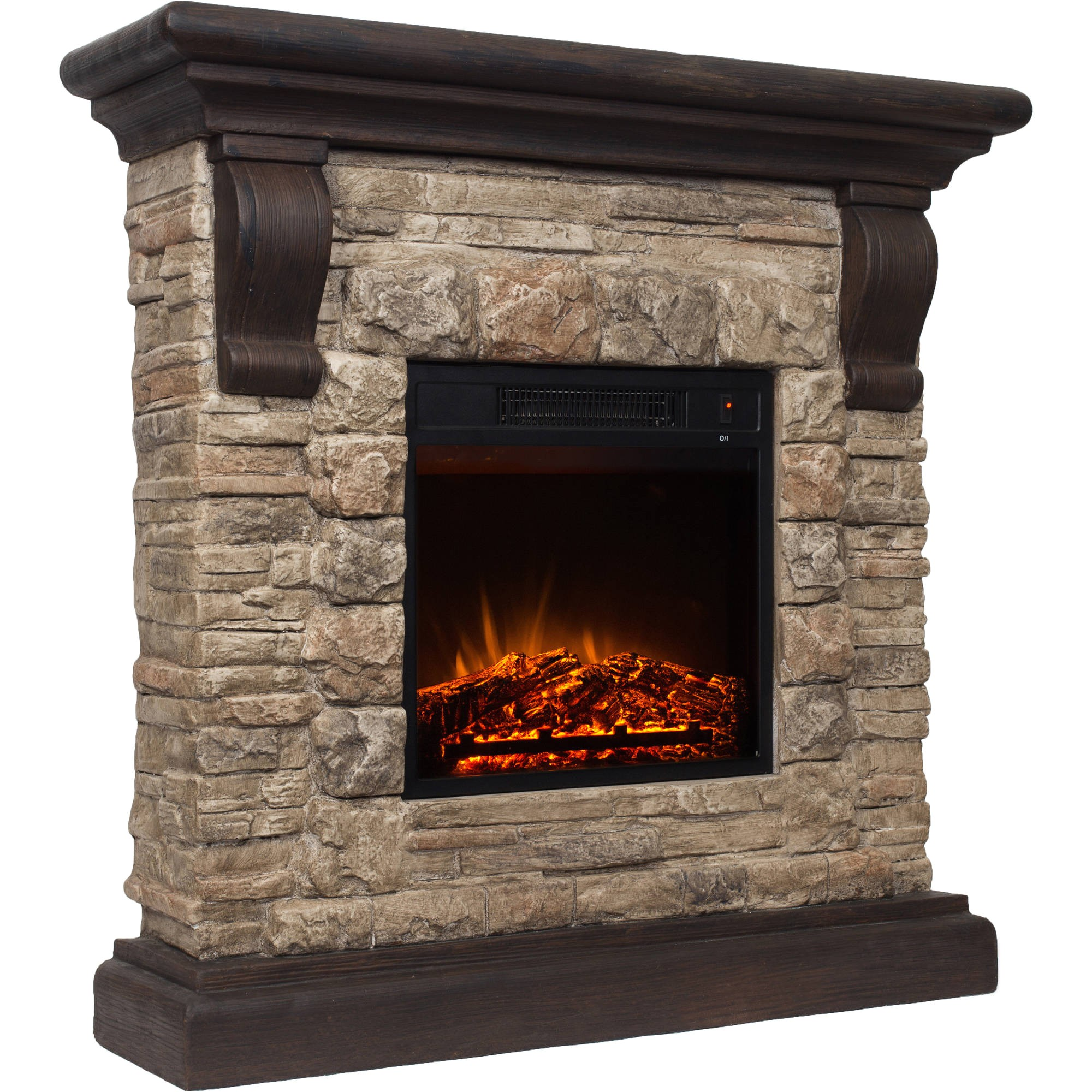 decor flame electric 41 with fireplace 1500w mantle includes remote mmp1800r 41