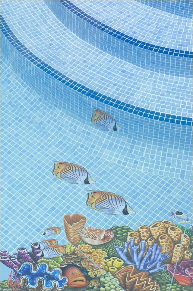 pool decal coral reef concrete fiberglass
