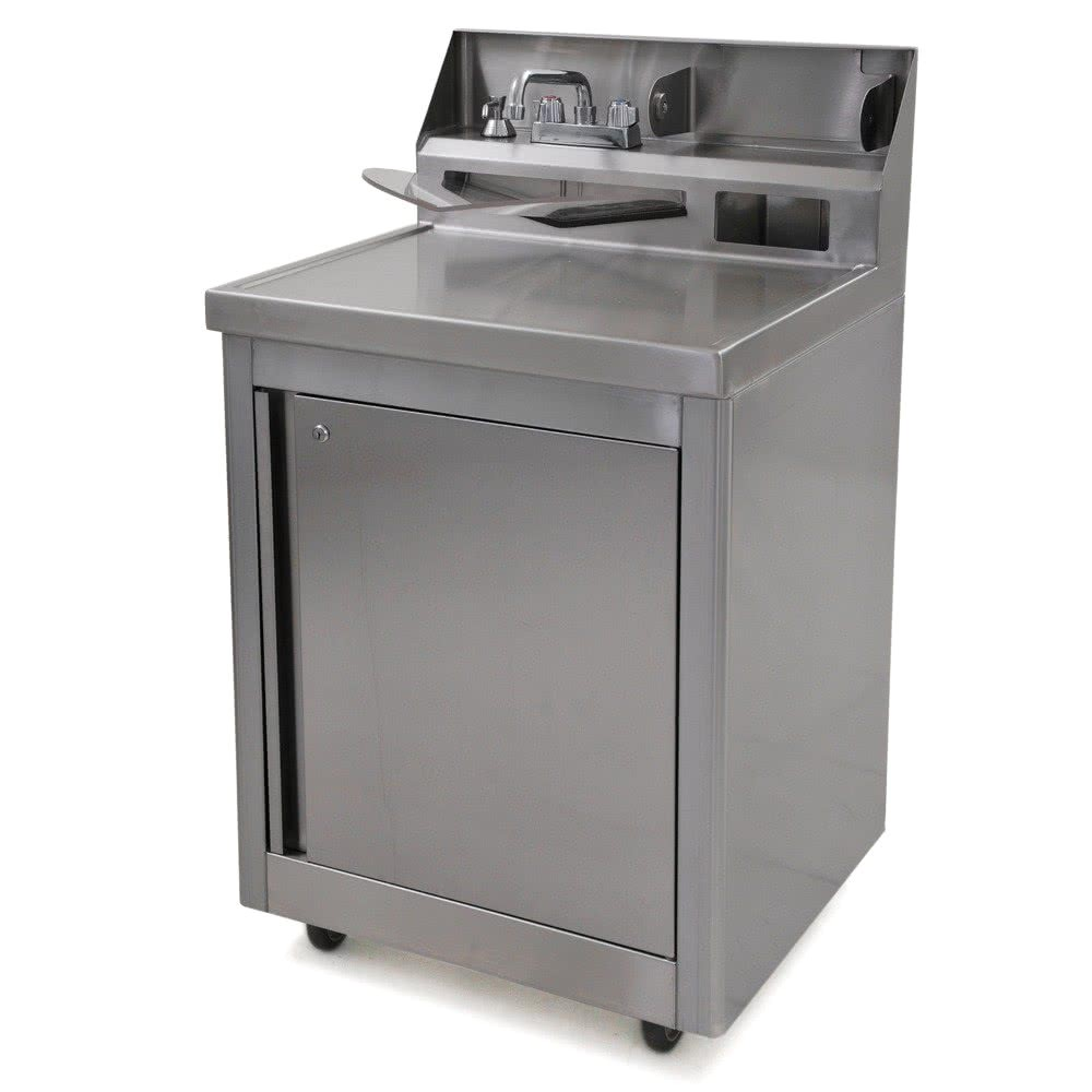 Portable Sinks with Hot and Cold Water Eagle Group Phs A H Hot and Cold Water Portable Sink with