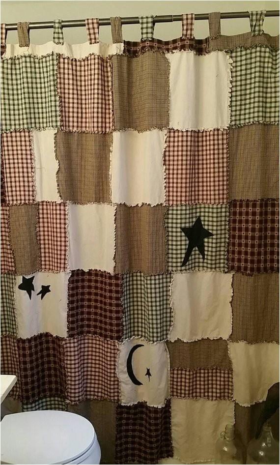 primitive shower curtain raggy shower