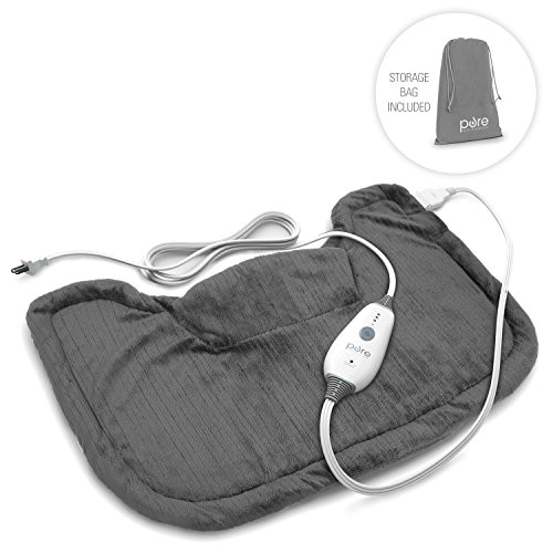 events 20gadgets item name purerelief neck 26amp 3b shoulder heating pad with fast heating technology 2c magnetic closure 26amp 3b convenient storage bag charcoal gray r