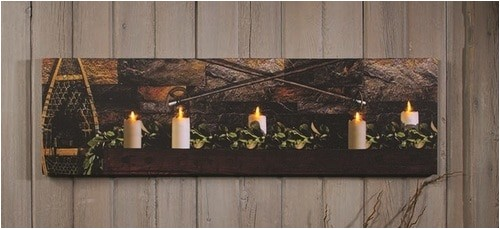 lighted country christmas candles by radiance lighted canvas