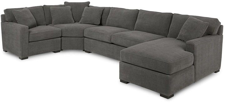 4 piece fabric modular sectional sofa