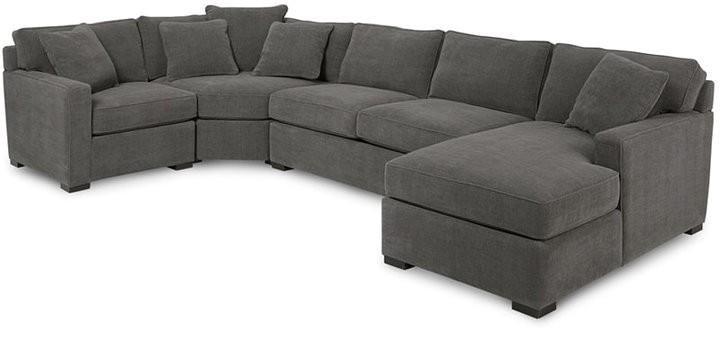 4 piece fabric modular sectional sofa
