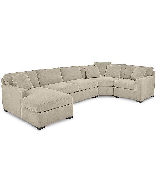 radley 4 piece fabric chaise sectional sofa created for macys id 1101388