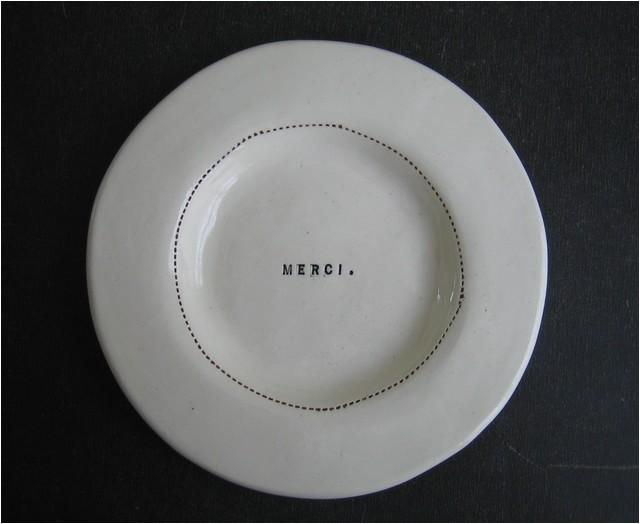wide rim wafer plate merci by rae dunn modern dinner plates