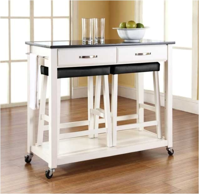 rolling kitchen island with seating
