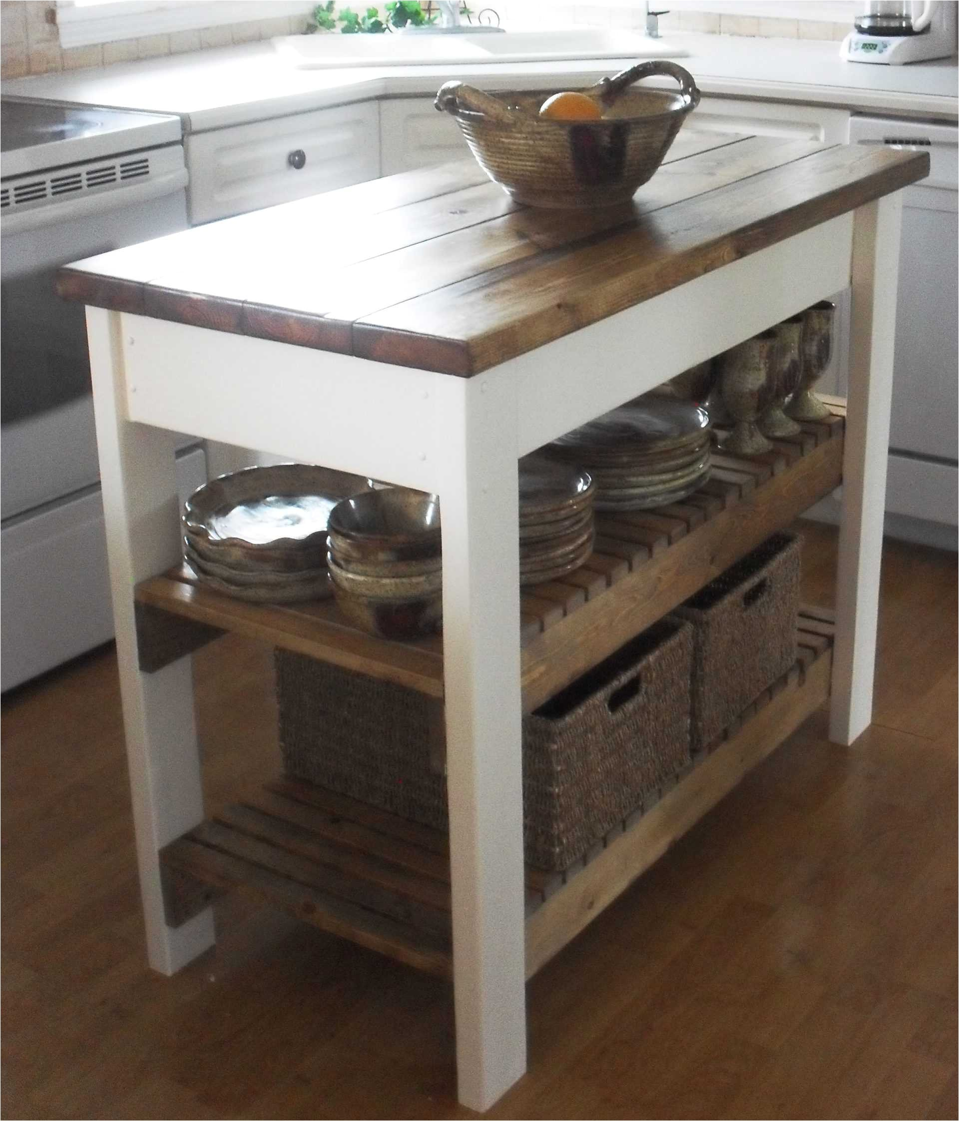 Real Simple Rolling Kitchen island In White 36.5 Enchanting Real Simple Rolling Kitchen island In White