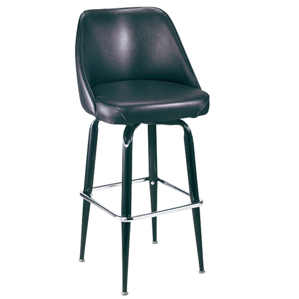 swivel square frame bucket seat bar stool p1009 r714