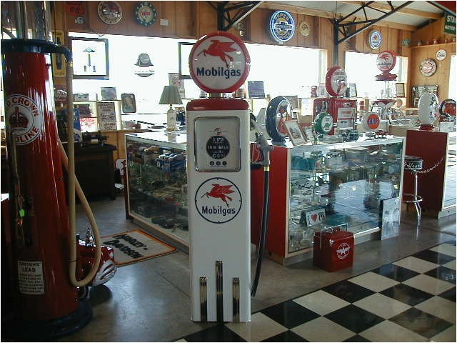 antique new reproduction mobil gas pump in great condition