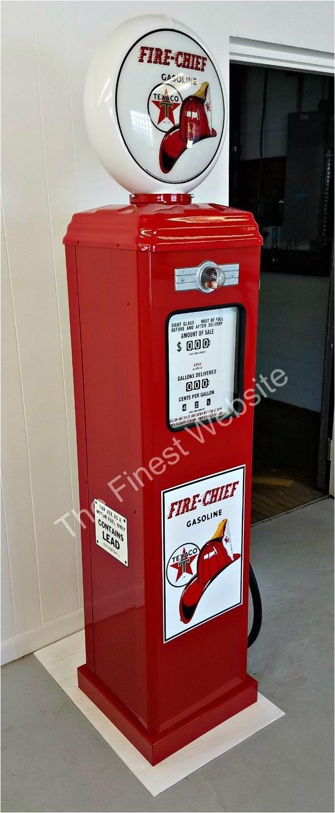 new texaco fire chief reproduction gas pump oil antique replica 141226433636