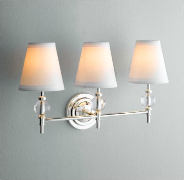 wilshire triple sconce traditional bathroom vanity lighting