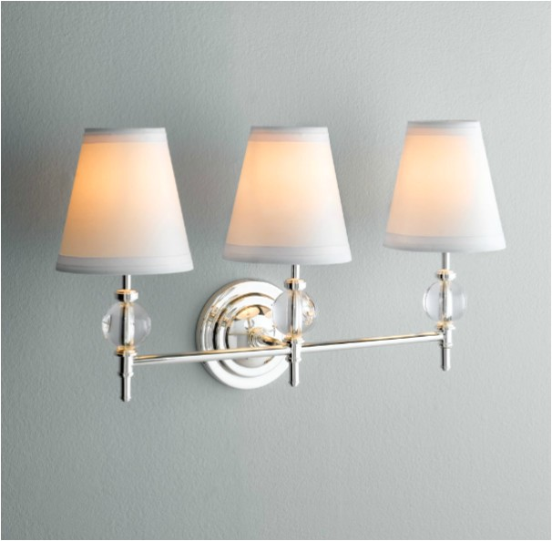 wilshire triple sconce traditional bathroom vanity lighting