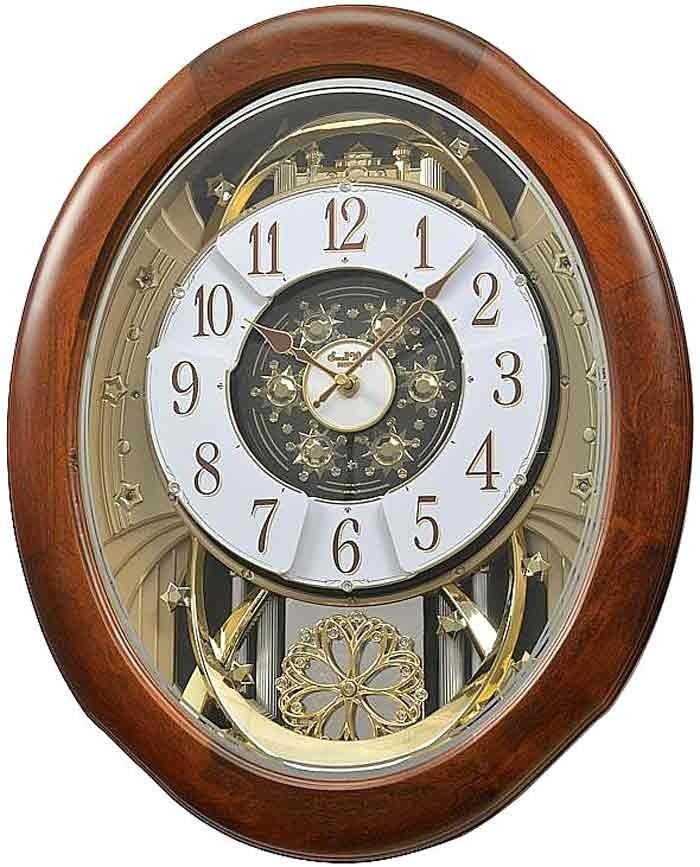 Rhythm Musical Clocks with Movement Rhythm 4mh884wd06 Magnificent Time Cracker Musical Clock