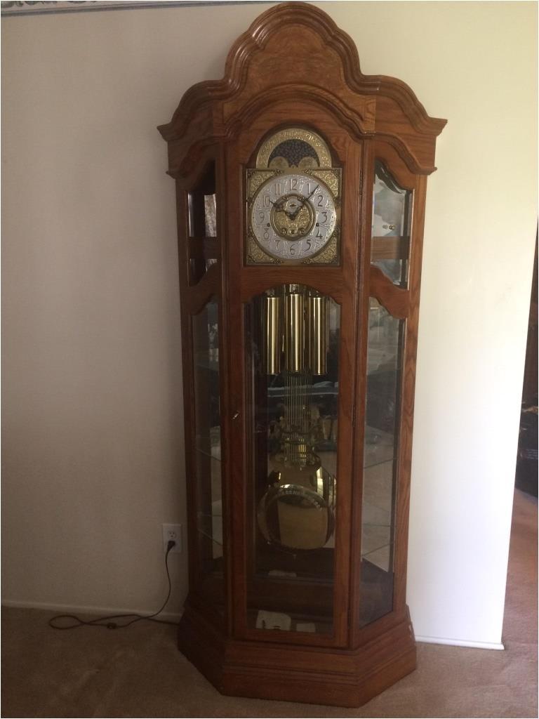 ridgeway grandfather clock curio cabinet