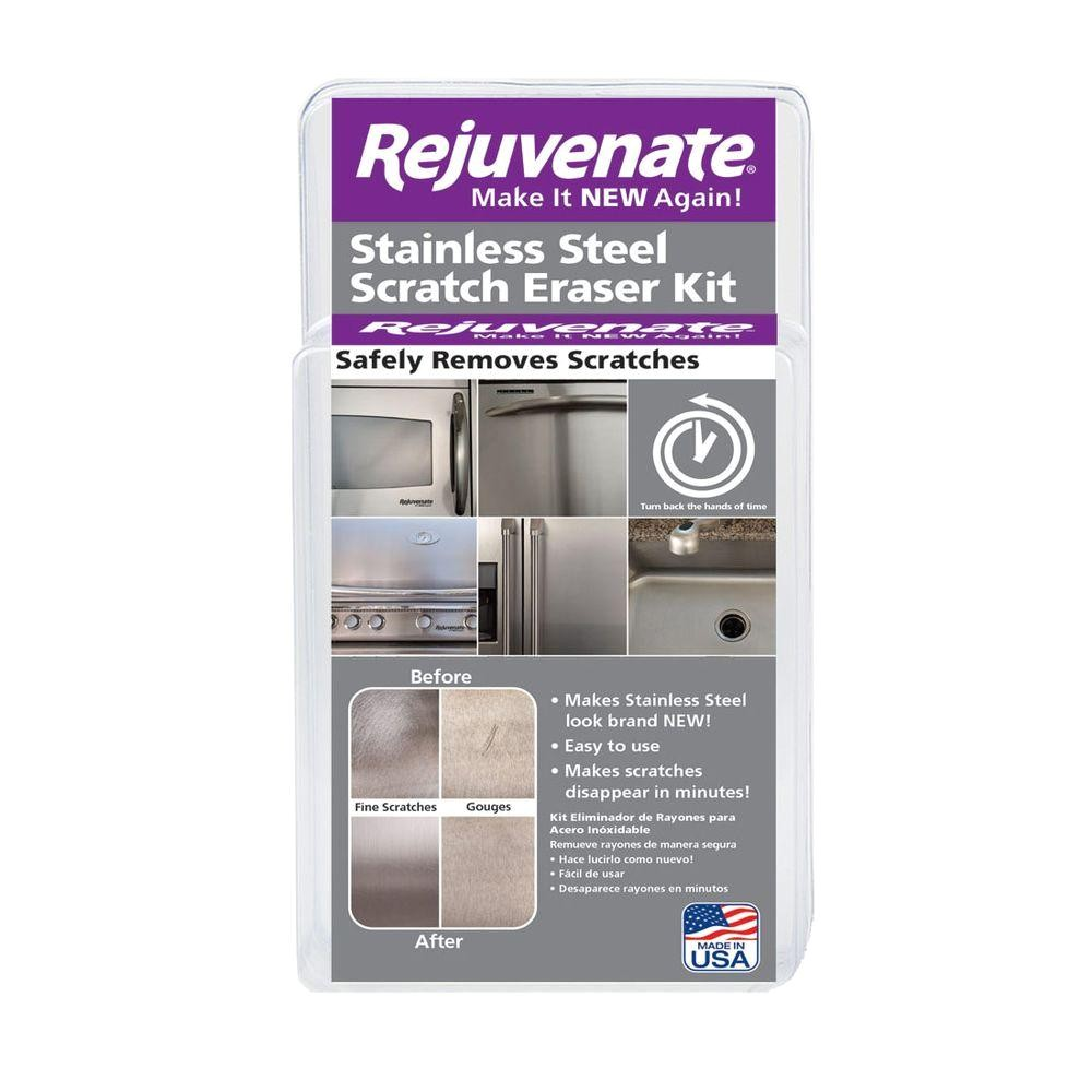 Scratch and Dent Appliances Ct Rejuvenate Stainless Steel Scratch Eraser Kit Rjssrkit the Home Depot