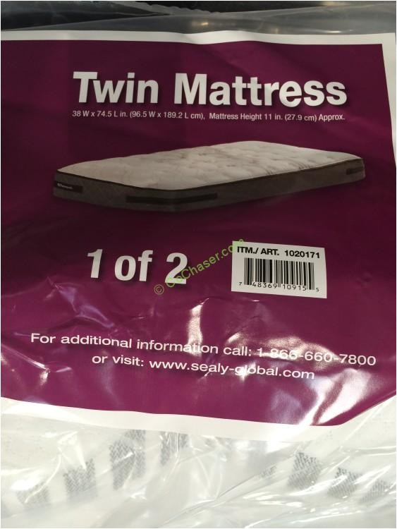 costco 1020171 sealy hawthorne twin firm mattress set name