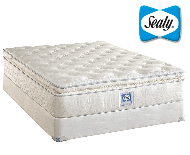 sealy plush euro pillow top innerspring mattress sealy plush euro p 37746