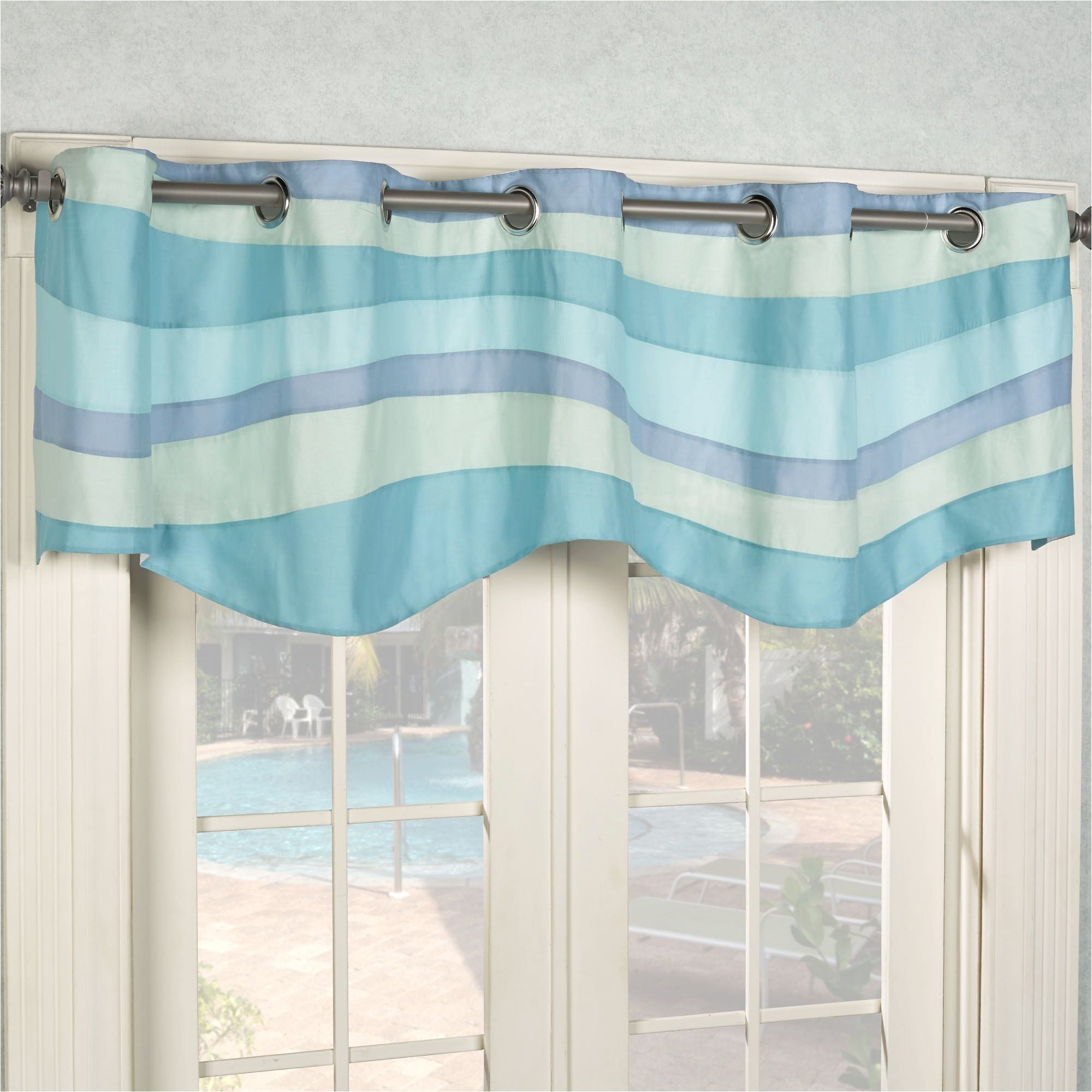 beach inspired curtain rods