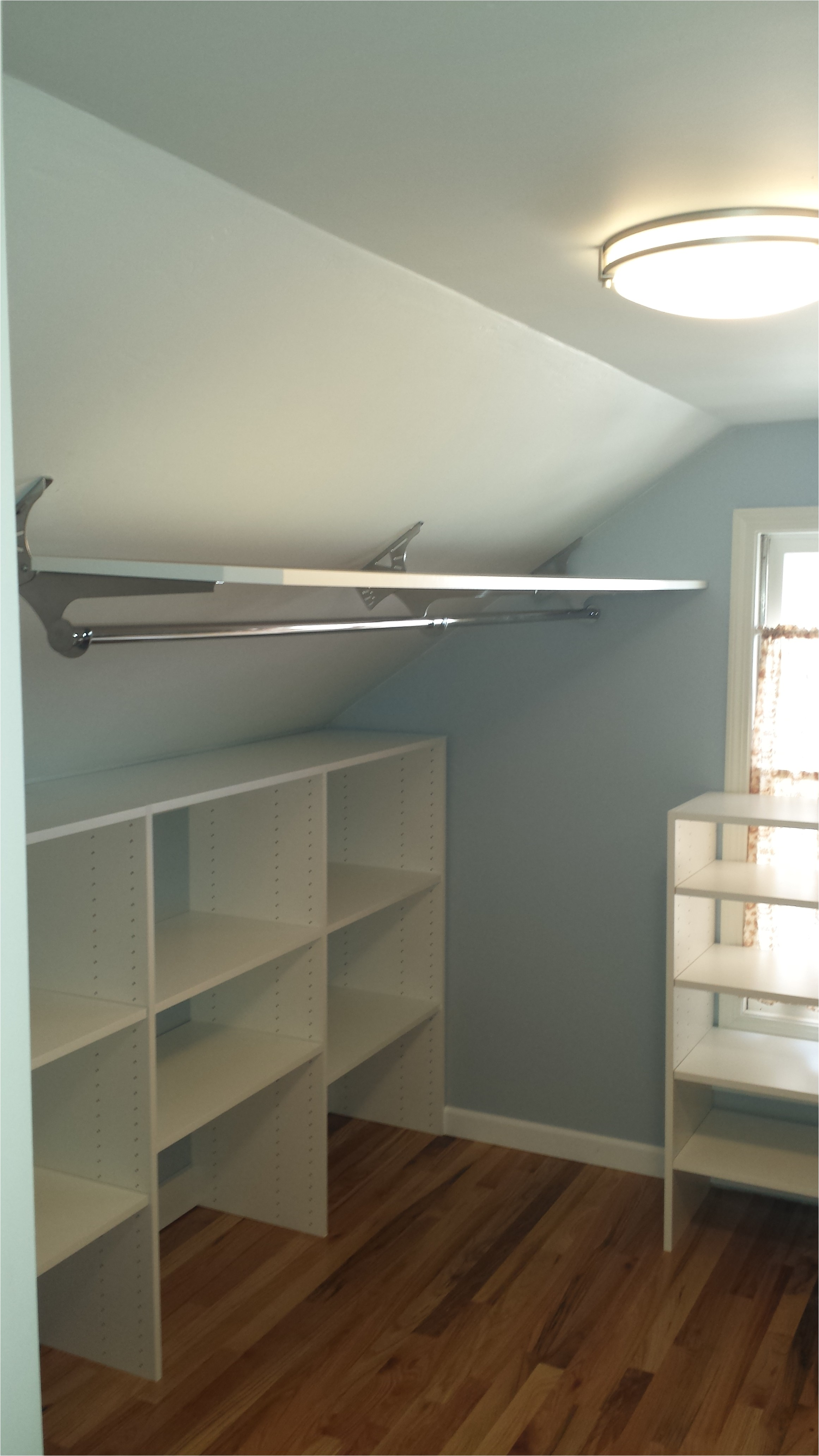 5695 closet rod bracket for sloped ceiling