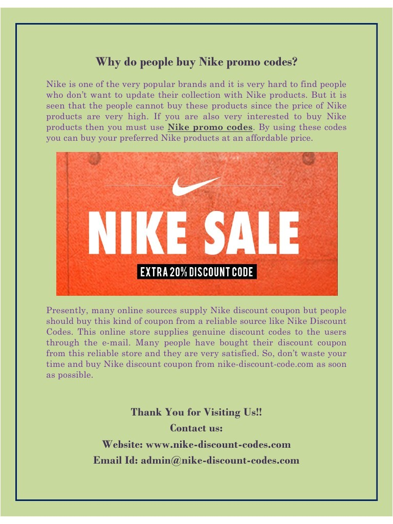 nike outlet store online coupon