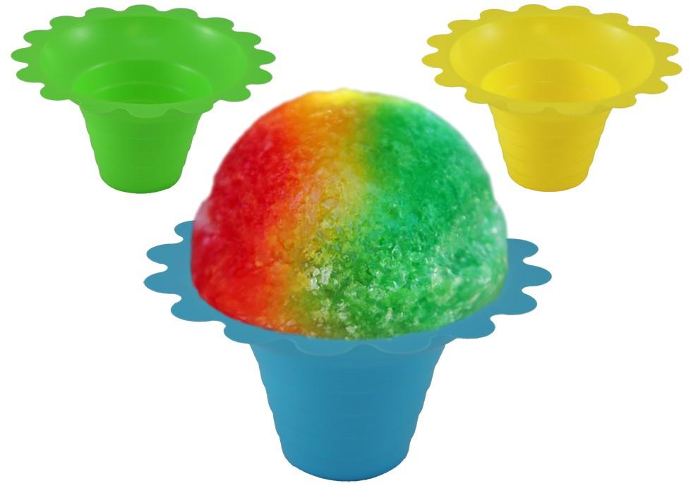 flower sno cone cup 4 oz