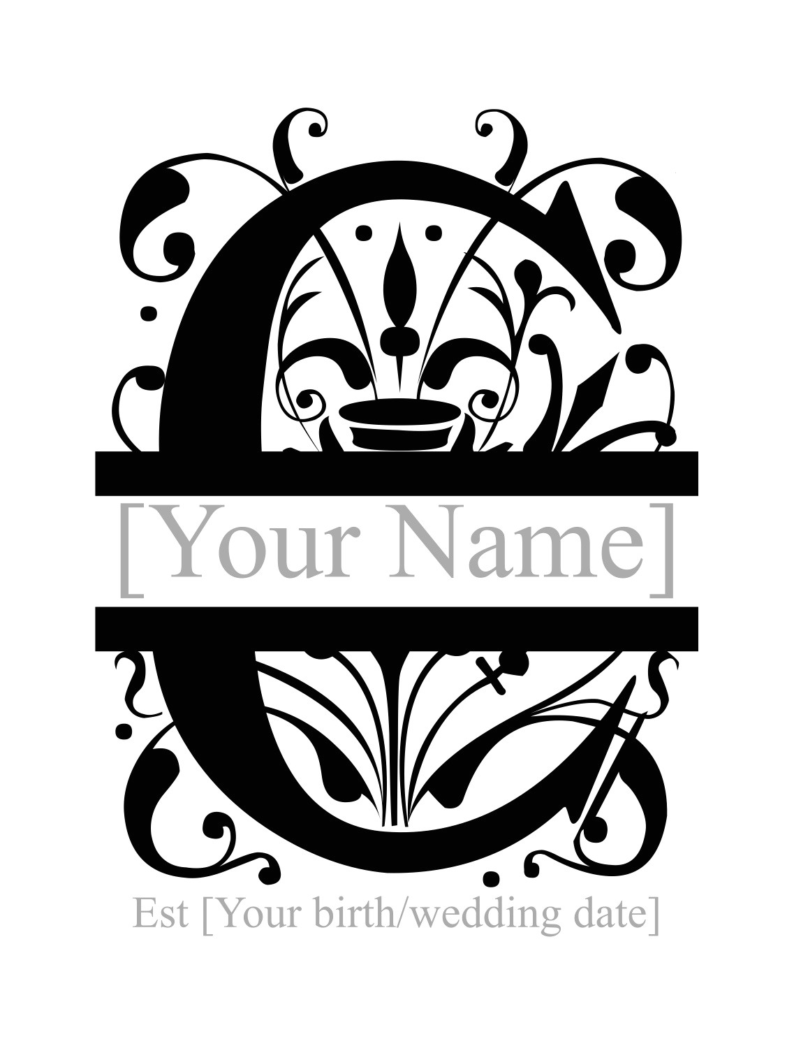 post c monogram printable 222554