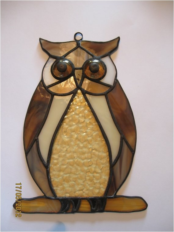 stained glass owl pattern