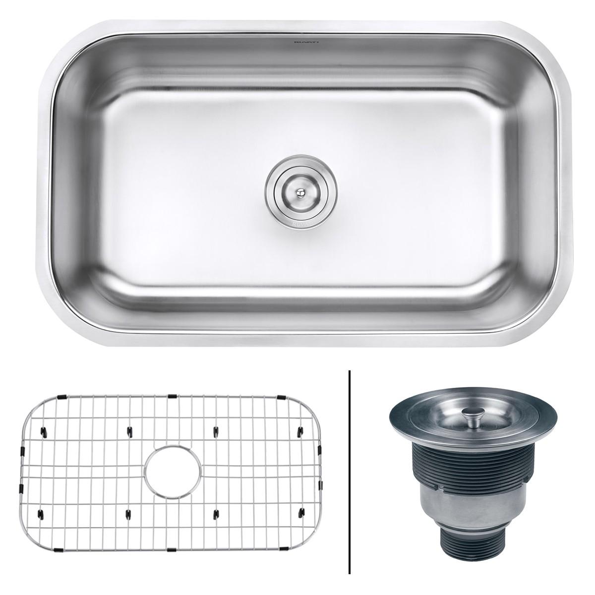 ruvati rvm4250 undermount 16 gauge 30 kitchen sink single bowl