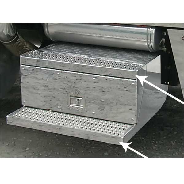 semi truck step tool box
