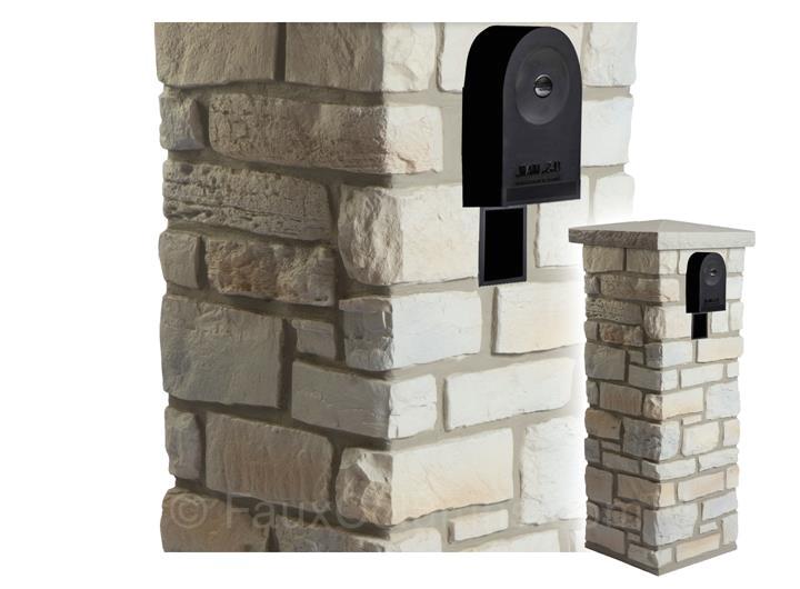 ledgestone mailbox column model cp ls clcmb ls