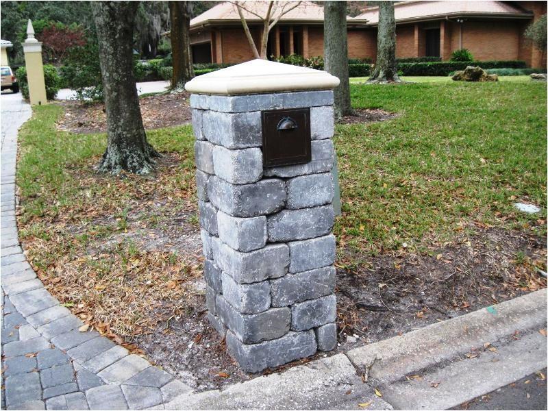 stone column mailbox kit