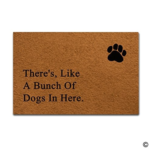 msmr entrance doormat theres like a bunch of dogs in here indoor outdoor door mat non slip doormat 236 by 157 inch machine washable non woven fabric