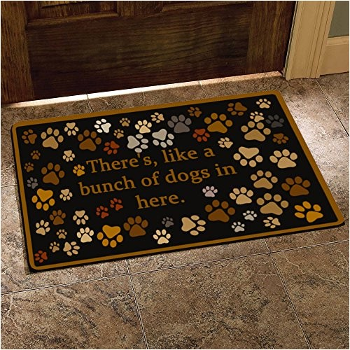 theres like a bunch of dogs in here funny design indooroutdoor doormat 30lx18w inch non slip machine washable home decor