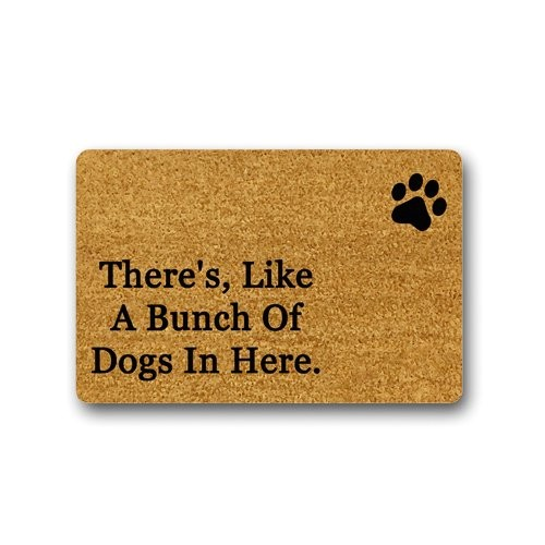 theres like a bunch of dogs in here funny design printed indooroutdoor decor rug doormat 236lx157w inch non slip machine washable home decor