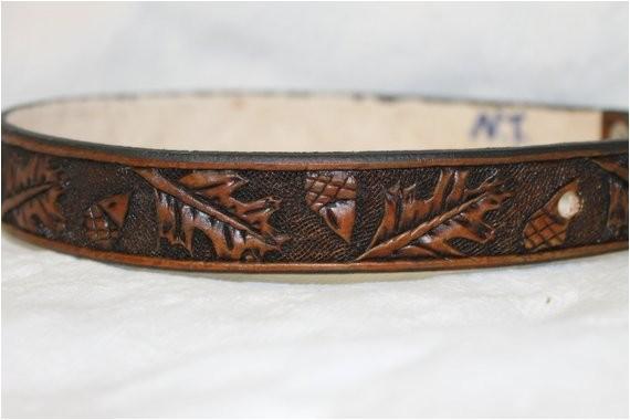 custom hand tooled leather dog collar