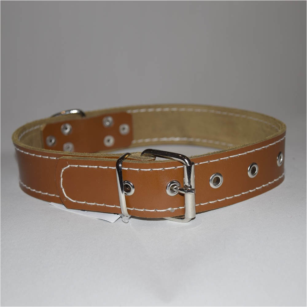 handmade dog collars leather