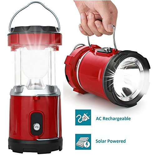 led camping lantern iruiyingo rechargeable solar lantern flashlight ultra bright hand tough lamp red color great light for camping hiking fishing backpacking outdoor