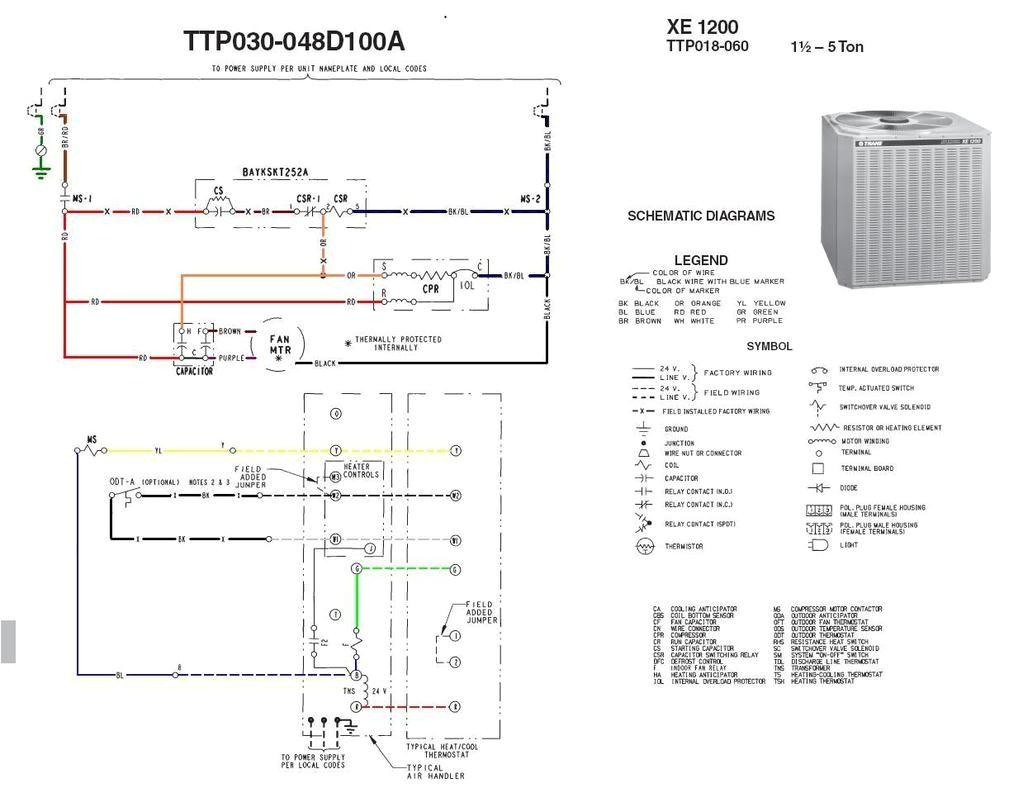 Trane Compressor Model Numbers Outside Ac Fan Not Spinning Buzzing sound Trane Xe1200