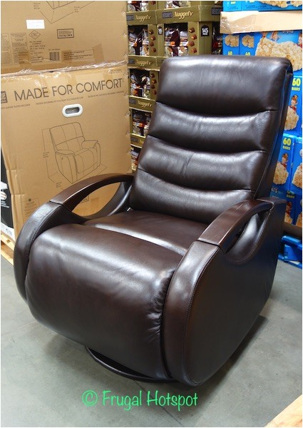 true innovations leather glider recliner