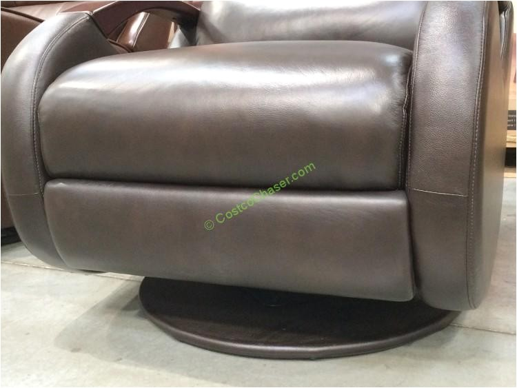 true innovations leather swivel glider recliner model cr 45426