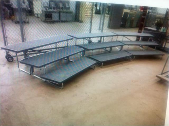 a 35 2557901 950 wenger portable 3 step choir choral riser risers foldable w cart
