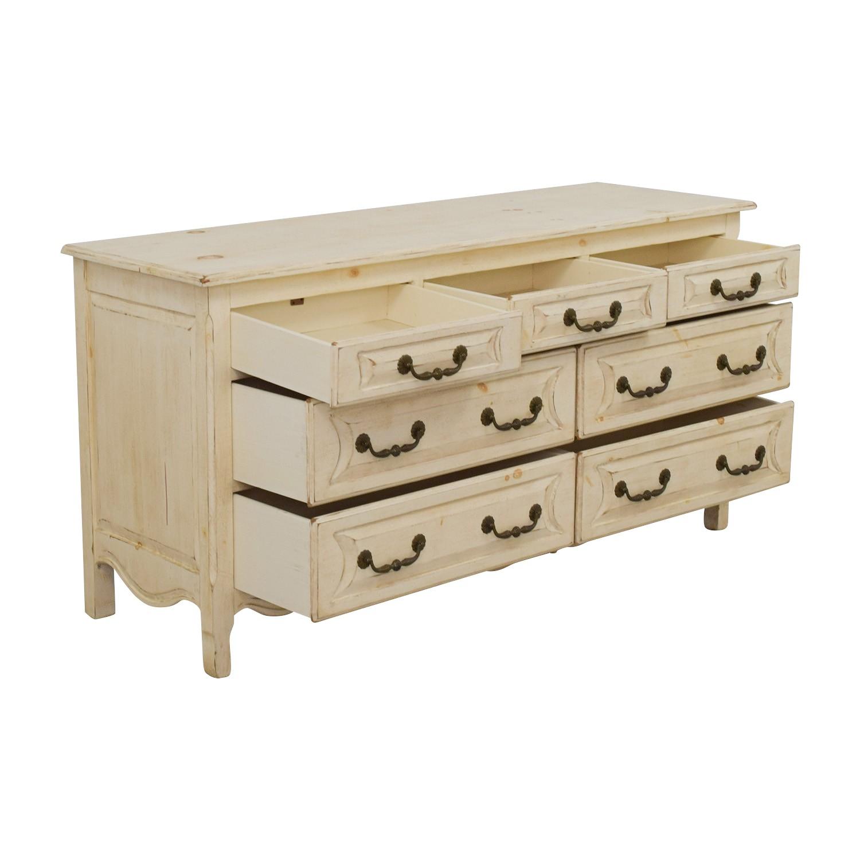 habersham plantation habersham plantation distressed seven drawer distressed cream double dresser
