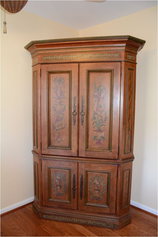 Used Habersham Furniture for Sale French Country Painted Habersham Armoire Corner Unit