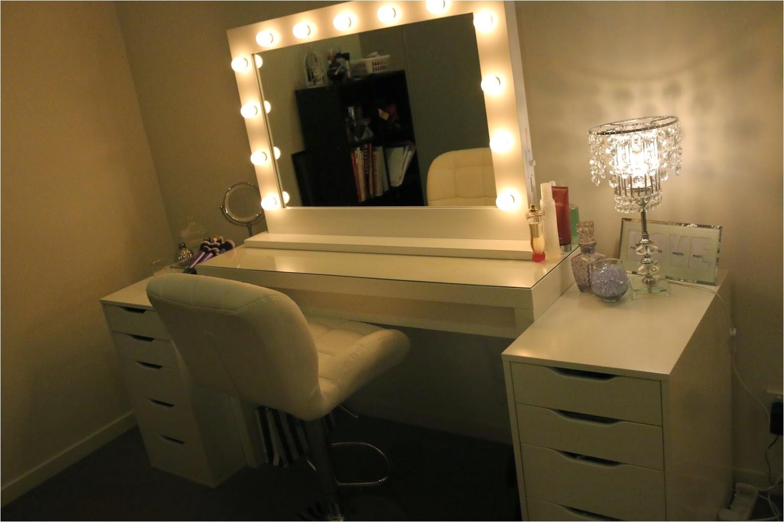 ikea makeup vanity hollywood lights